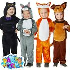 Kids Animal Costume Pets Toddler Girls Boys Fancy Dress Outfit World Book Day