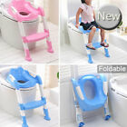 Kids Baby Child Foldable Toddler Potty Loo Training Toilet Seat & Step Ladder UK