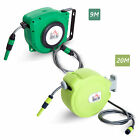 Retractable Water Hose Reel Garden Plants Pipe Hosepipe Wall mounted 20m/9m