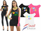 Ladies Womens I Love the 80s Fancy Dress Hen Party Retro T-Shirt Top New 8-26