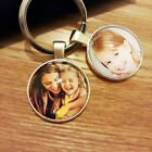 Personalised Custom Photo Keyring Chain Fathers Day Birthday Presents Gifts