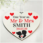 1st 10th 50th Wedding Anniversary Gifts PERSONALISED Husband Wife Couple Gifts