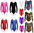 New Girls Kids LEOTARD LONG SLEEVE Dance Gymnastics Ballet Leotards Age 3-14
