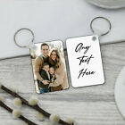 Personalised DOUBLE SIDE MDF KEYRING Printed ANY PHOTO TEXT IMAGE NAME Gift Set