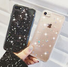 Glitter Shockproof Silicone Phone Back Case Soft Cover For iPhone 7 XR 8 6 5 Xs