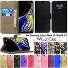 Case For Samsung Galaxy Note 10 Plus 9 8 2 4 Magnetic Cover Flip Leather Wallet