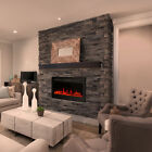 "Electric Fire Wall Mounted Fireplace 9 Color 1800W 36""50"" Remote Control LED"