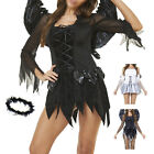 Adult Sexy Fallen Angel Halloween Horror Ladies Fancy Dress Costume Party Outfit