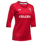 Under Armour WRU Wales Rugby Women s Home Supporters Shirt Red (Sizes XS - XL)