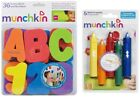 Munchkin Bath Letters & Numbers / Set of Bath Crayons Bath Toy suitable Age 3 +