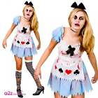 Ladies Alice In Zombieland Costume Sexy Halloween Zombie Wonderland Fancy Dress