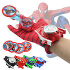 Marvel Superhero Spider Man Batman Launchers Gloves Figures Kids Boys Toys Gifts