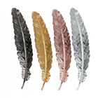 Bird Owl Metal Feather Bookmark Stationery Retro Cute 3D Textured Gift Present