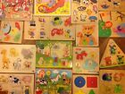 Wooden jigsaw Puzzle sets of Various Puzzles ELC Mothercare ETC