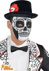 Adult Day Of The Dead Mask Mexican Sugar Skull Halloween Fancy Dress Costume