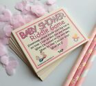 Baby Shower Games Girls Riddle Cards Funny Adult Humour Virtual Lockdown Zoom
