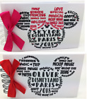 Personalised Disney Autograph Book A5 or A6 MINNIE or MICKEY Paris or Florida **