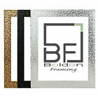 Flat Bright Mirror effect Mosaic Picture Photo Poster frame A4 A3 Silver Black