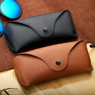 Leather Hard Spectacle Case Eye Sun Glasses Portable Box Holder Anti-Scratch UK