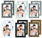 Pack of 2 Photo Frames 6x4 White, Grey, Silver, Brown, Black, 6x4 Picture Frame
