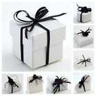 Glossy White Wedding Favour Boxes -Luxury Party/Christening Gift Favor. Box Only