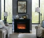 Electric Fireplace Suite White or Black MDF Mantle Fire Inset Heater With Remote