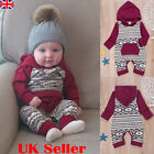 UK Newborn Baby Girl Boy Hooded Romper Bodysuit Jumpsuit Cotton Clothes Outfits