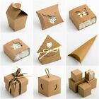 RUSTIC KRAFT Favour Boxes -  Luxury DIY Wedding Natural Vintage Shabby Chic