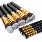 10 PCS Professional Kabuki Make up Brush Foundation Blusher Face Powder Brushes