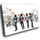 Black White Green Jazz Music Band Modern Canvas Wall Art Picture Prints