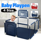 4 Side Baby Playpen Toddler Kids Outdoor Play Pen Ball Pool With Basket Red UK