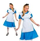 Adult STORYBOOK ALICE IN WONDERLAND Fancy Dress Ladies Book Costume UK Size 6-28