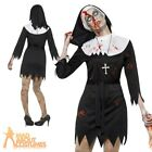 Womens Zombie Nun Costume Ladies Sister Mary Adult Halloween Fancy Dress Outfit
