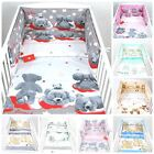 LUXURY 3 PIECES NURSERY- BABY BEDDING SET BUMPER-PILLOW-QUILT COVERS  fit Cot