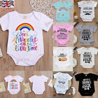 Newborn Baby Boys Girls Unisex Romper Bodysuit Clothes Outfit Jumpsuit 0-24M UK