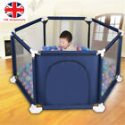 Baby Playpen by Millhouse 6 Sides with Round Zipper Door Play Pen for Toddlers