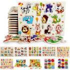 Baby Toddler Jigsaw Kids Puzzle Alphabet Letters Animal Wooden Learning Toys New