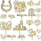 Oak Veneer Wedding Cake Toppers Top Wooden Decoration Occasion Rustic Decoration