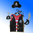 Kids M&S £9.50 5 Piece Pirate Dressing Up Outfit Costume Buccaneer Fancy Dress