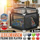Child Baby Playpen 6 Sides Panels Kids Activity Center Safety Play Yard Pen