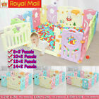10-16 Panel Large Foldable Baby Playpen Kids Plastic Play Pens Room Divider Toy