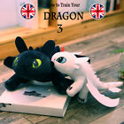 "10""/14"" UK How to Train Your Dragon 3 Toothless Night Fury Light Fury Plush Doll"