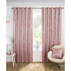 Halo Metallic Shimmer Thermal Lined Blockout Eyelet Curtains Pink by Xsell® NEW
