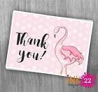 Cute pink flamingo thank you note card pack Birthday, Hen party, Wedding x10