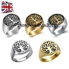 Tree of Life Mens Heavy Stainless Steel Thumb Ring Fashion Wedding Band Gift