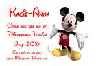 WE ARE GOING TO DISNEYLAND PERSONALISED VOUCHER CARD PARIS FLORIDA TICKET #1