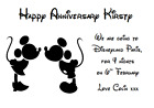 WE ARE GOING TO DISNEYLAND PERSONALISED VOUCHER CARD PARIS FLORIDA TICKET #2