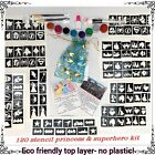 GLITTER TATTOO KIT 120 stencil 8 glitter  superhero and princess OR REFILL ITEMS