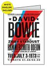 DAVID BOWIE POSTER PERSONALISED INSIDE OUTSIDE HANDMADE CARD BIRTHDAY OPEN