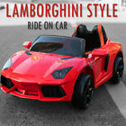 KIDS RIDE ON 12V ELECTRIC LAMBORGHINI STYLE BATTERY REMOTE CONTROL 2.4G TOY CAR